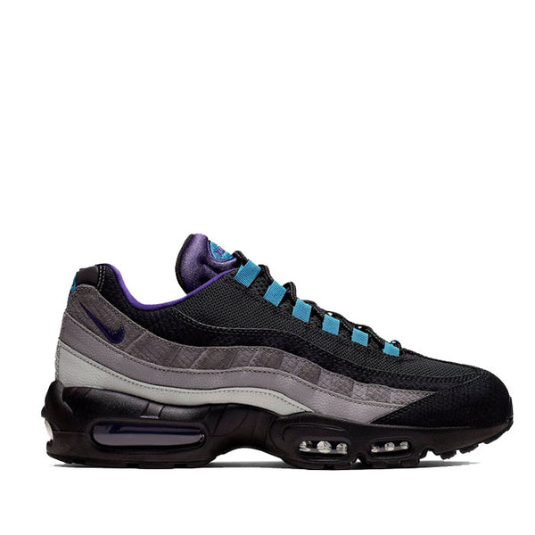 NIKE AIR MAX 95 'BLACK GRAPE' - Black/Court Purple-Teal Nebula - AO2450-002