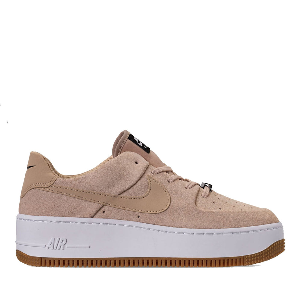 NIKE AIR FORCE 1 SAGE XX LOW WOMENS SHOE - Bio Beige/Bio Beige/Black - AR5339 203