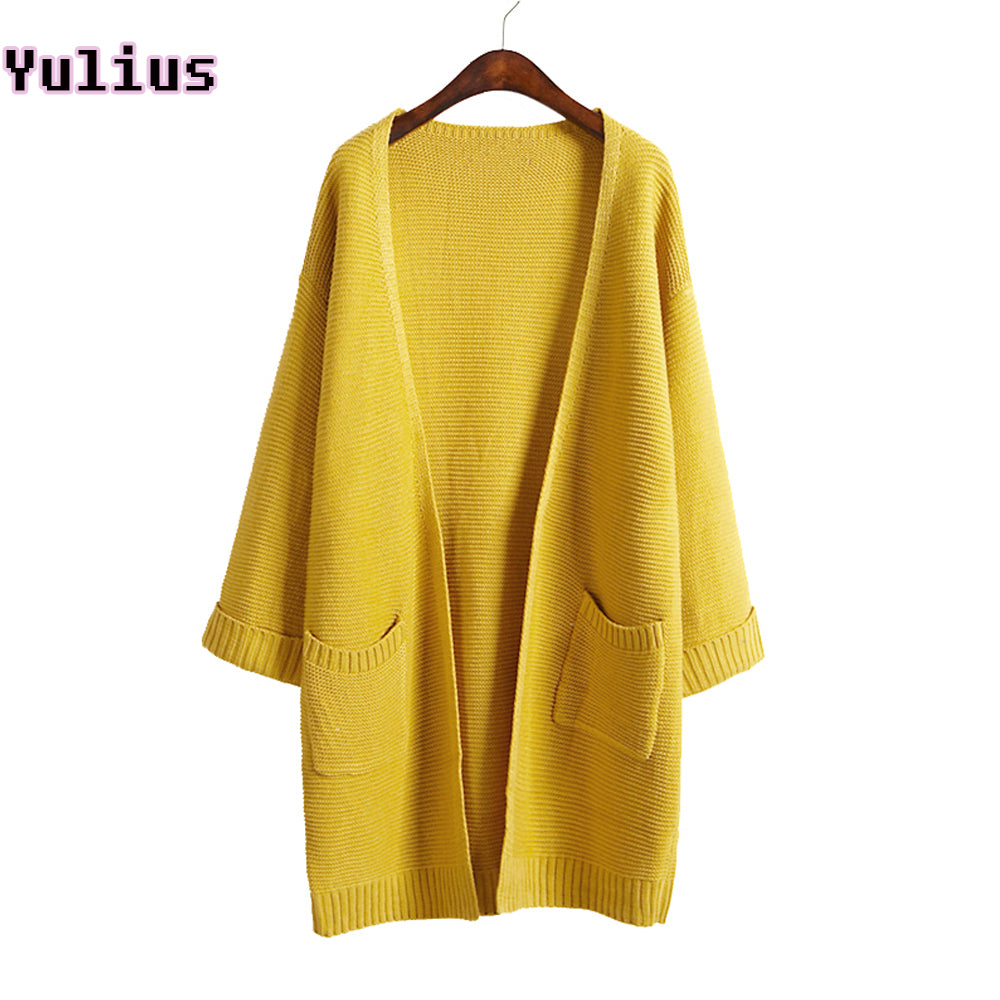 2017 Casual Long Knitted Cardigan Autumn Designer Sweater