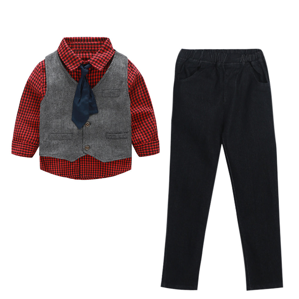 3 Piece Clothing Set Long Sleeve, Gentlemen Outfit for boys