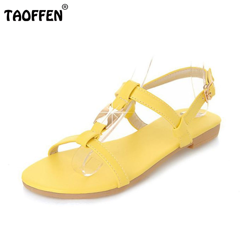 Women Flat Sandals Ankle-Strap Flats Sandals Summer Shoes