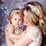 2pcs New Fashion Baby And Mom Flower Lace headband