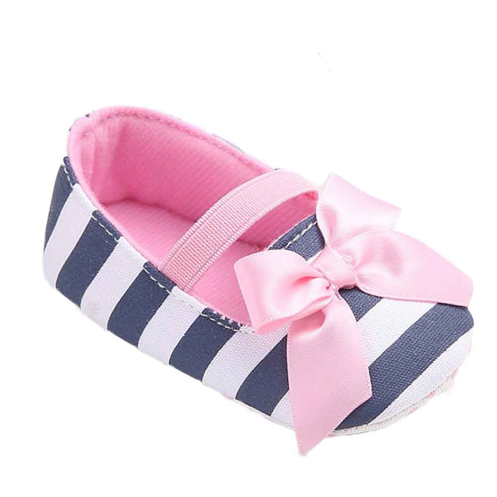 Baby Girls stripe Bowknot Shoes