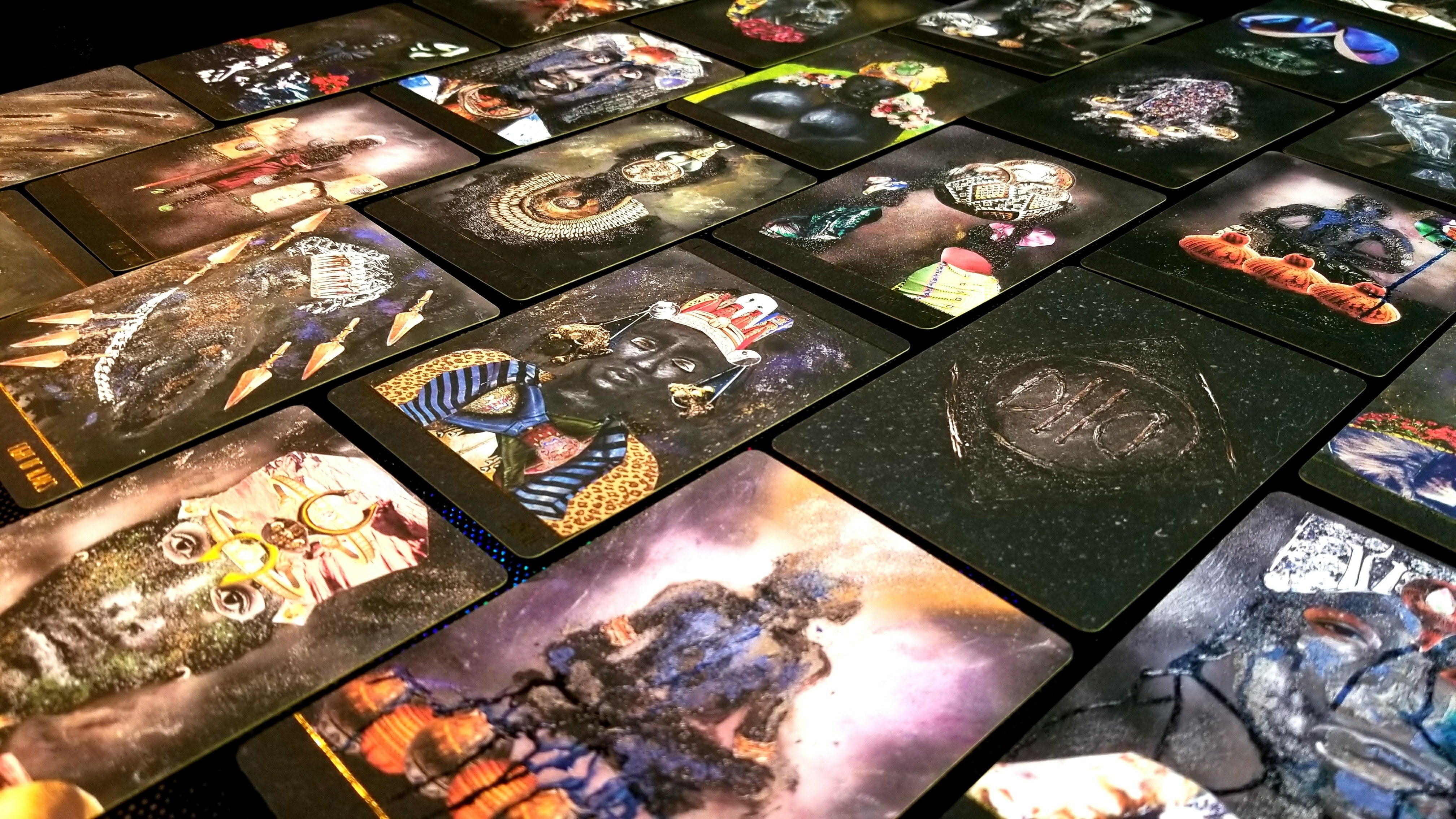 The Dust 2 Onyx Tarot Deck is Beautiful (Support a black