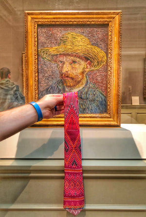 van gogh wearing a fancy unique tie | Cambo Ties