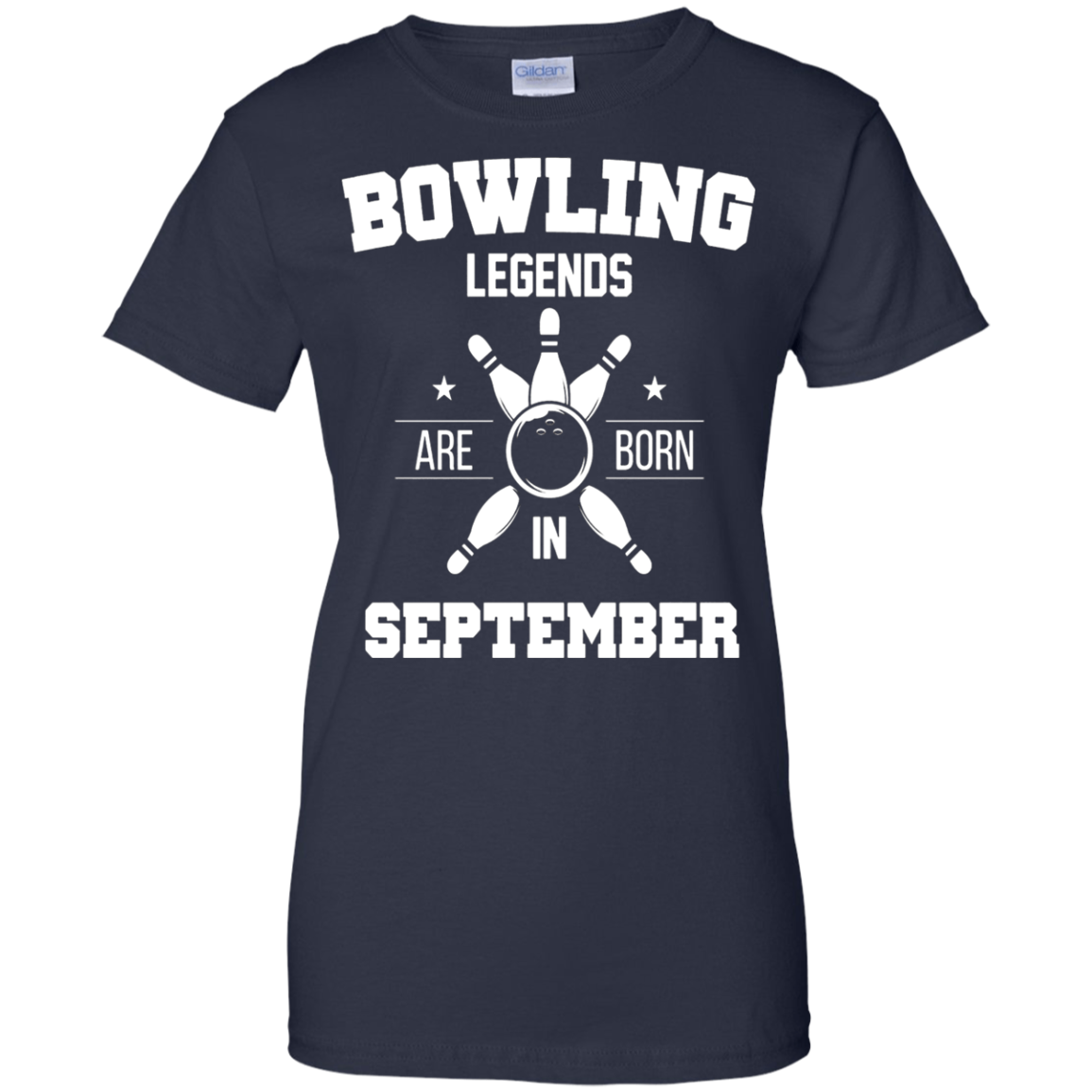 Bowling Legends Are Born In September Birthday Shirt