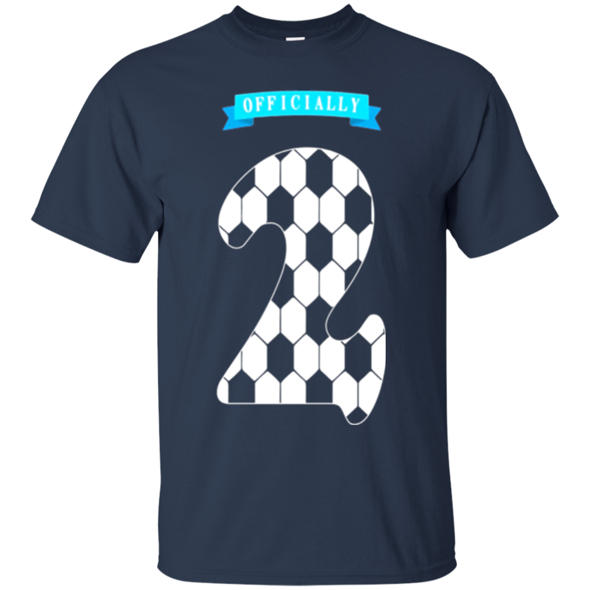 2 Years Old T Shirt 2nd Birthday Number Tee Soccer Kids