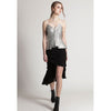 Evie Bustier Top, Metallic Grey