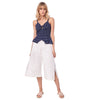 Island Breeze Culottes, White