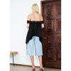 High Split Culottes, Denim