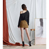 Exhibitionist Skirt, Caramel Houndstood