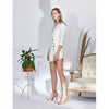 Alexa Blazer Dress, Off-white Stripes