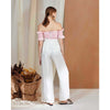 Joanna Wide Leg Pants, Off-white