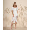 Devon Dress, White