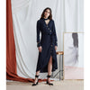 Curator Dress, Navy Jacquard