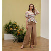 Cara Pants, Tan Stripe