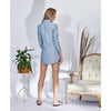 Alexa Blazer Dress, Blue Stripes