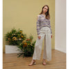 Cara Pants, White Stripe