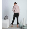 Detachable Scarf Fur Bomber, Pale Pink