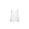 Silverware Embellished Top, White