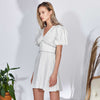 Erin Dress, Off-white Stripes