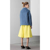 Dropped Shoulder Wool Jacket, Blue