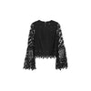 Gala Flared Sleeve Lace Top,  Black