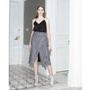 Make An Entrance Skirt, Grey Stripe