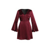 Reflections Flared Sleeve Dress, Burgundy