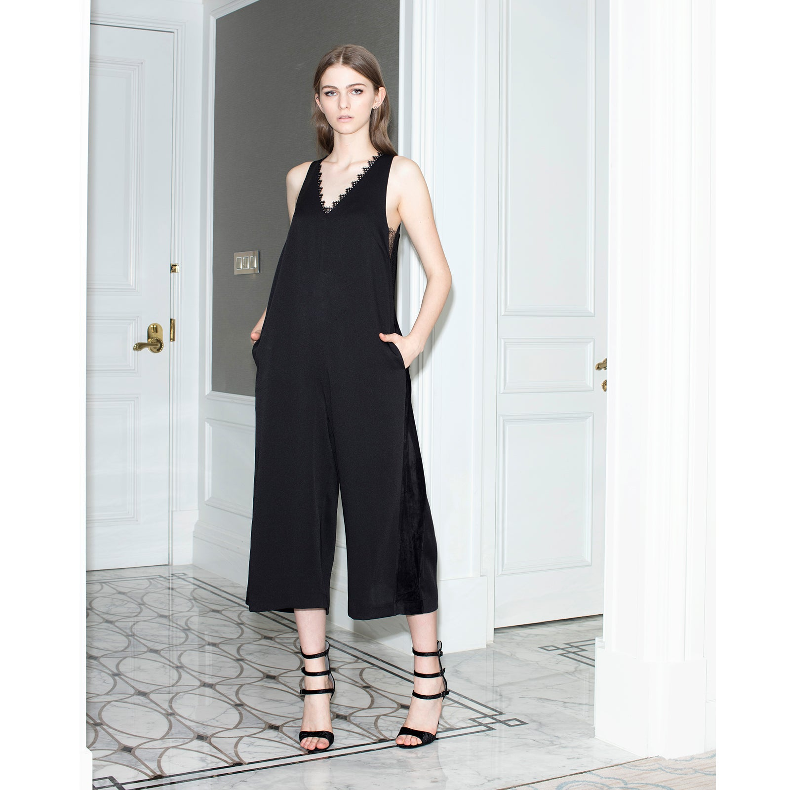 9a54a9d101f Room Service Wide Leg Jumpsuit