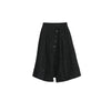 Weekender Split Skirt, Black Jacquard