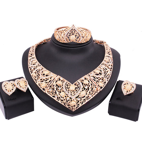 Unique Design Fashion Wedding African Gold Jewelry Set High Quality - EpicGearCenter