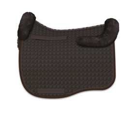Mattes Eurofit Dressage Fleece Saddle Pad - Brown