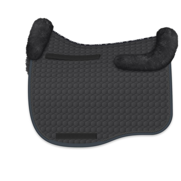 Mattes Eurofit Dressage Fleece Saddle Pad - Graphite