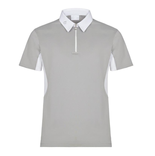 Cavalleria Toscana Men's Tech Piquet Competition Polo - Mesh Insert