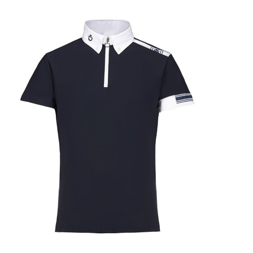 Cavalleria Toscana Boys Jersey Polo with Laser Cut Logo