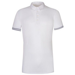 Cavalleria Toscana Men's Logo Stripe Comp Polo