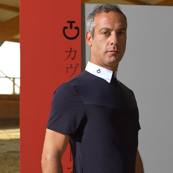 Cavalleria Toscana Mens Origami Competition Polo