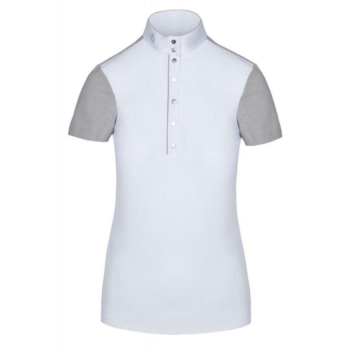 Cavalleria Toscana Perforated Sleeve Competition Polo