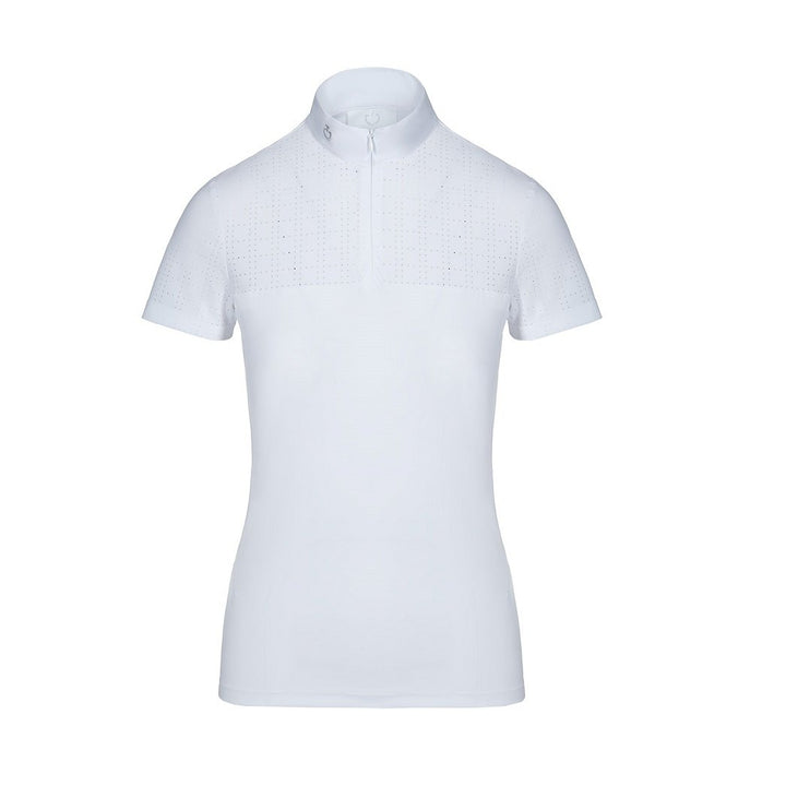 Cavalleria Toscana Square Perforated Zip Polo -  Cavalleria Toscana