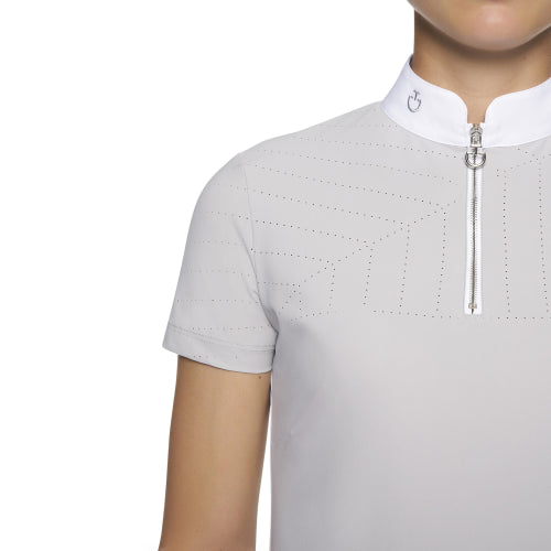 Cavalleria Toscana Perforated Sailing Jersey Comp Polo