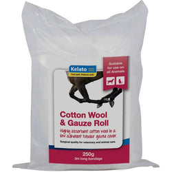 Kelato Gauze & Cotton Wool Roll -  Saddleworld P/L