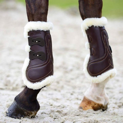 Kentucky Sheepskin Leather Tendon Boots -Elastic -  Kentucky