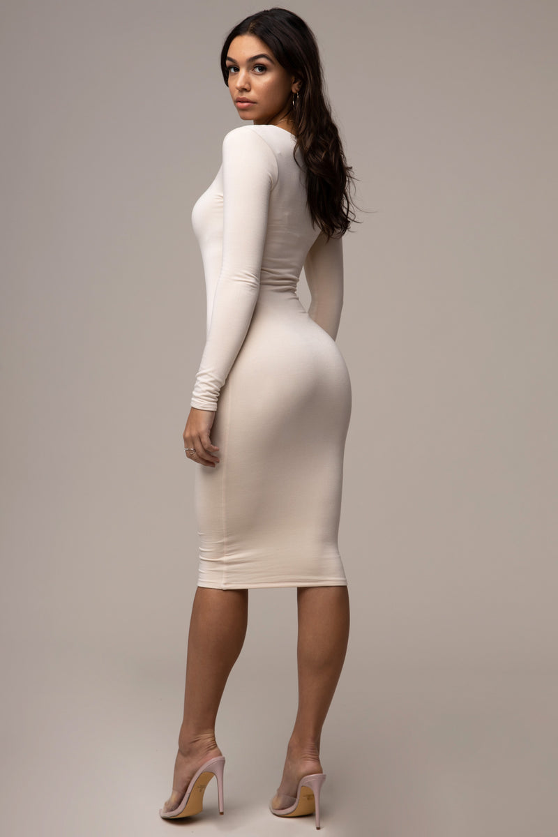 Square Neck Dress Ivory