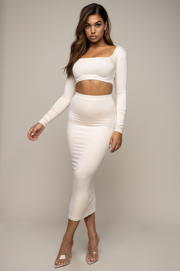 Square Neck Crop Ivory