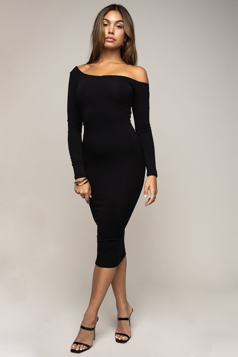 Off Shoulder Dress Black