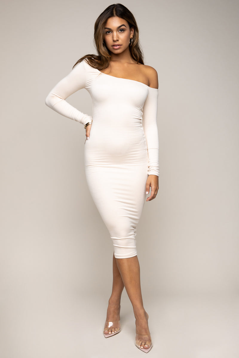 Off Shoulder Dress Ivory