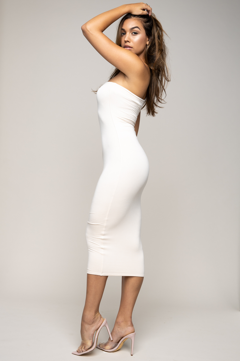 Sophia One Shoulder Dress Ivory