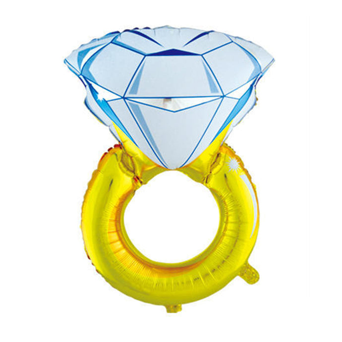 Big Diamond Ring Foil Balloon for Wedding Decoration Valentine's Day Decor Balloon Engagement Decorative
