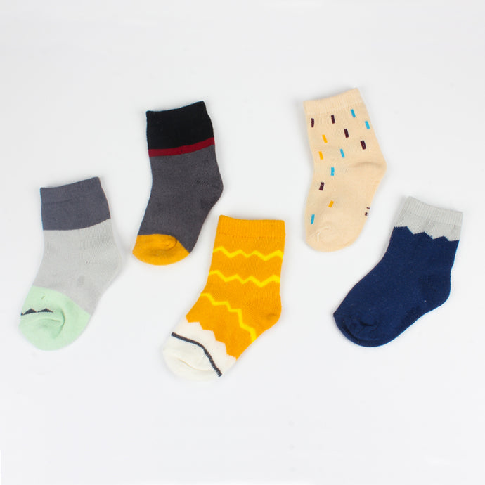 5 Pairs 95% Cotton Cute Baby Socks Set 2-10 Years Child Floor Short Socks Infant
